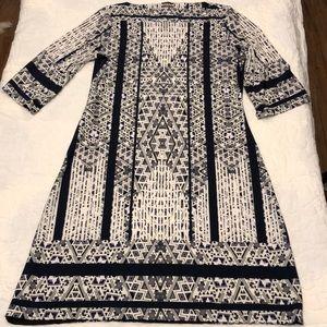 NWOT Navy, Gray & White Haani Dress